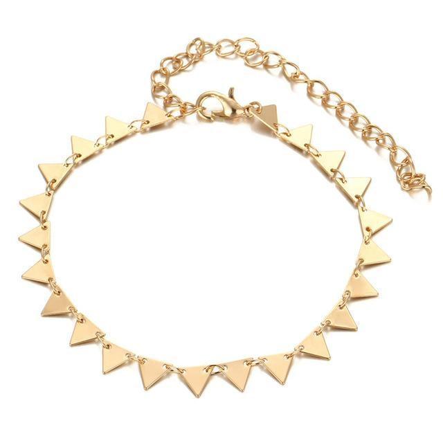 Bracelet de cheville Delta Or bracelet