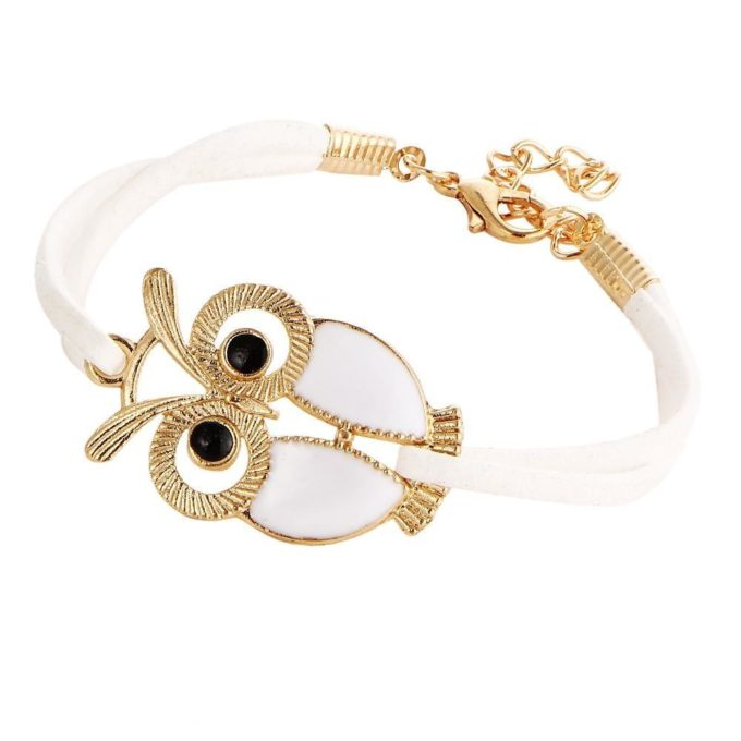 Bracelet hibou Blanc bracelet