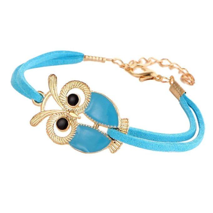 Bracelet hibou Bleu bracelet