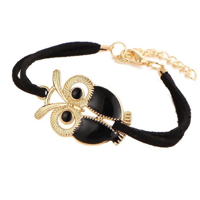 Bracelet hibou Noir bracelet