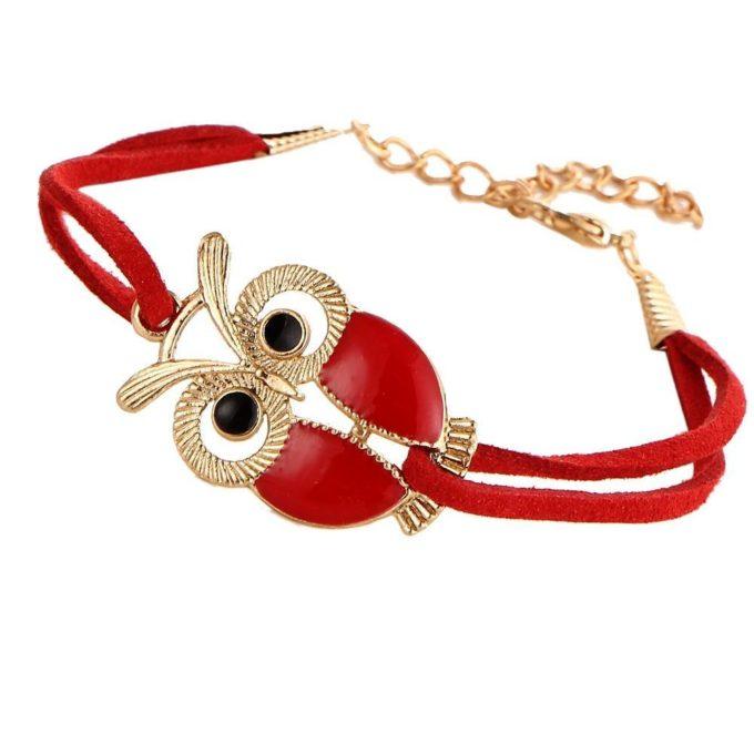 Bracelet hibou Rouge bracelet