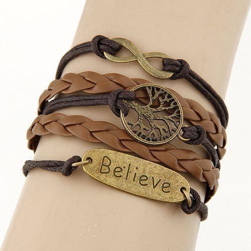 Bracelet Vintage Arbre/Believe - Brun bracelet
