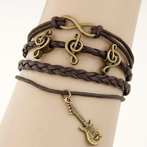 Bracelet Vintage Brun - Musique bracelet