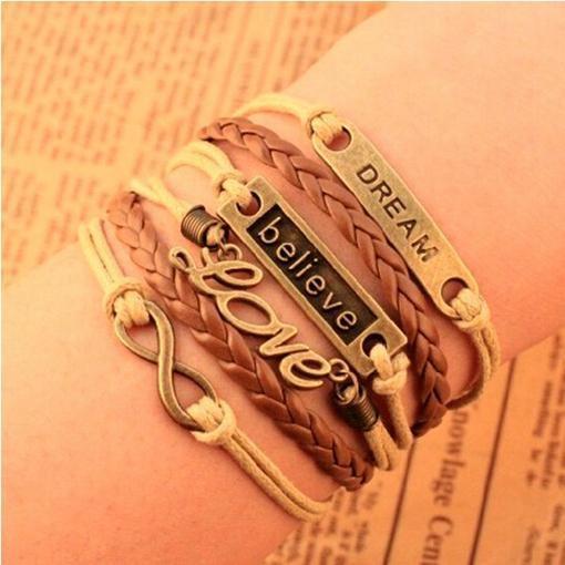Bracelet Vintage Dream/Believe/Love bracelet