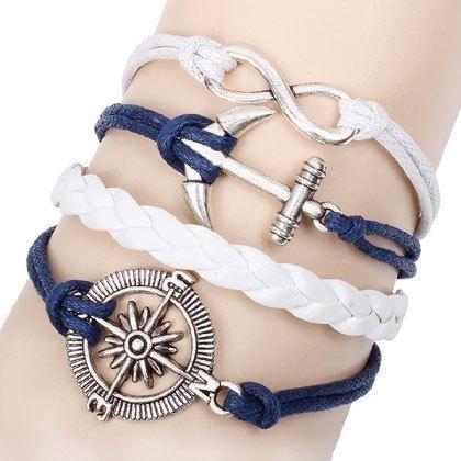 Bracelet Vintage Marin - Blanc/Bleu bracelet