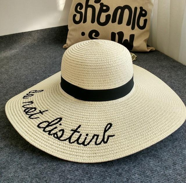 Chapeau do not disturb Beige chapeau