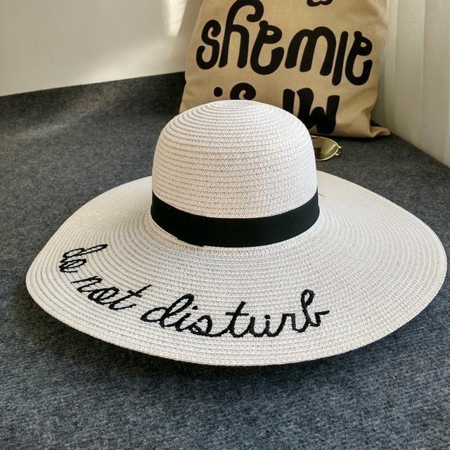 Chapeau do not disturb Blanc chapeau