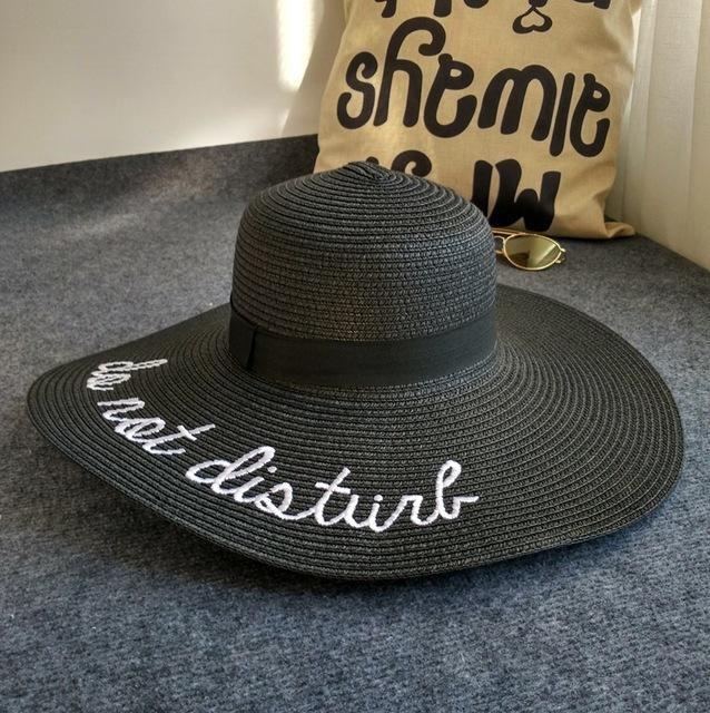Chapeau do not disturb Noir chapeau