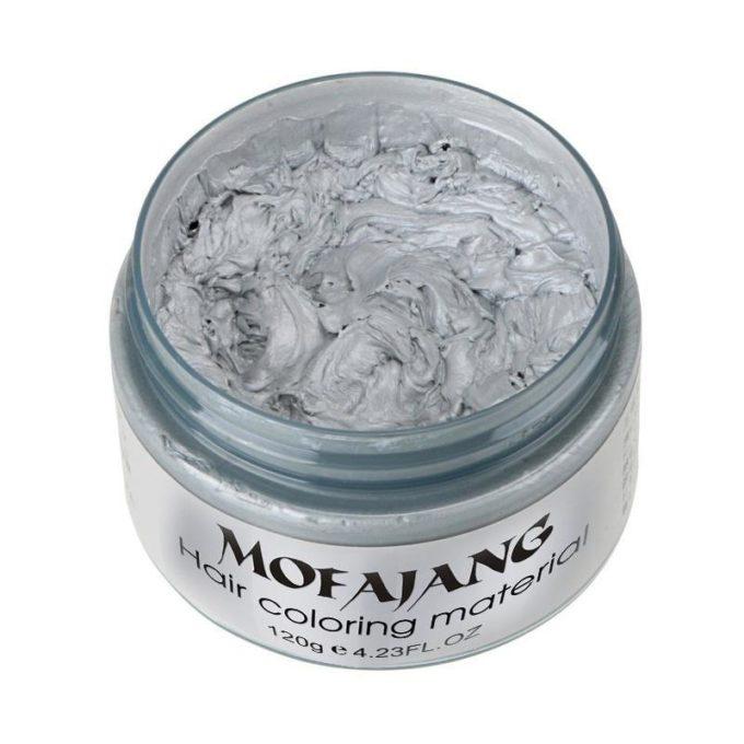 Cire coiffante colorante Argent/gris clair cire