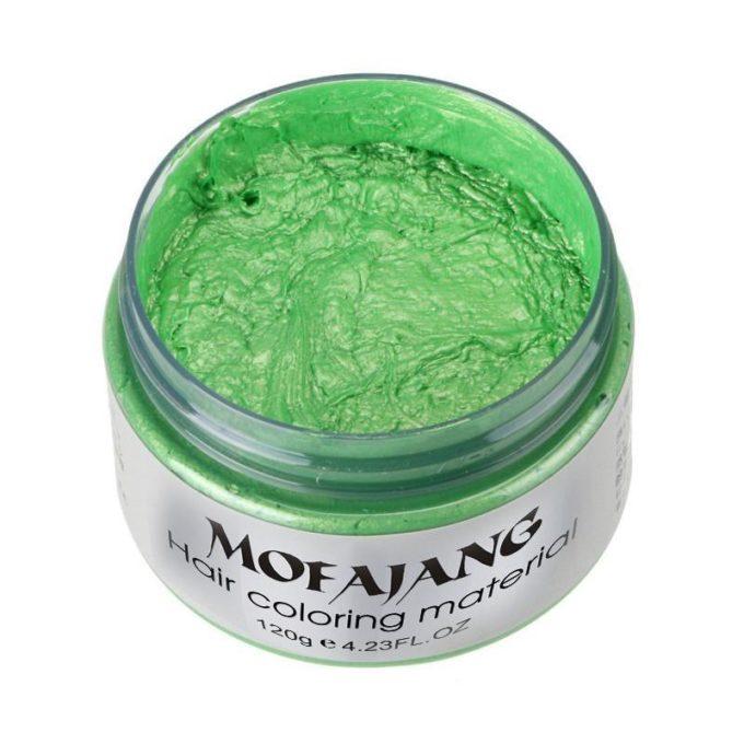 Cire coiffante colorante Vert cire