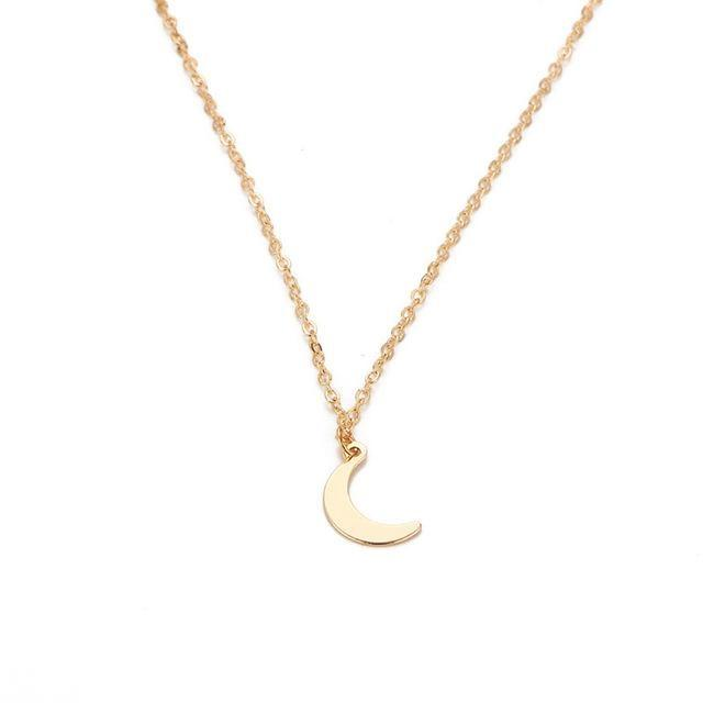 Collier Lune Or collier