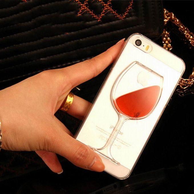 Coque verre de vin pour iPhone coque