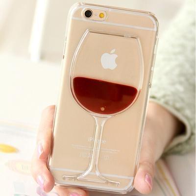 Coque verre de vin pour iPhone Vin rouge / iPhone 4 4S coque