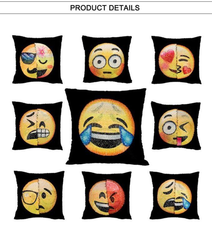 Housse de coussin magique dual-emoji