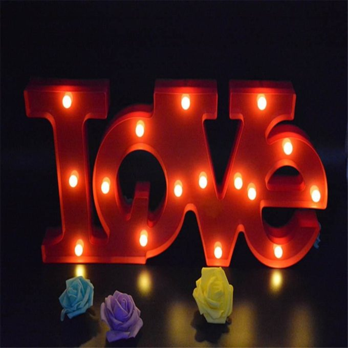 LOVE lettres lumineuses lampe