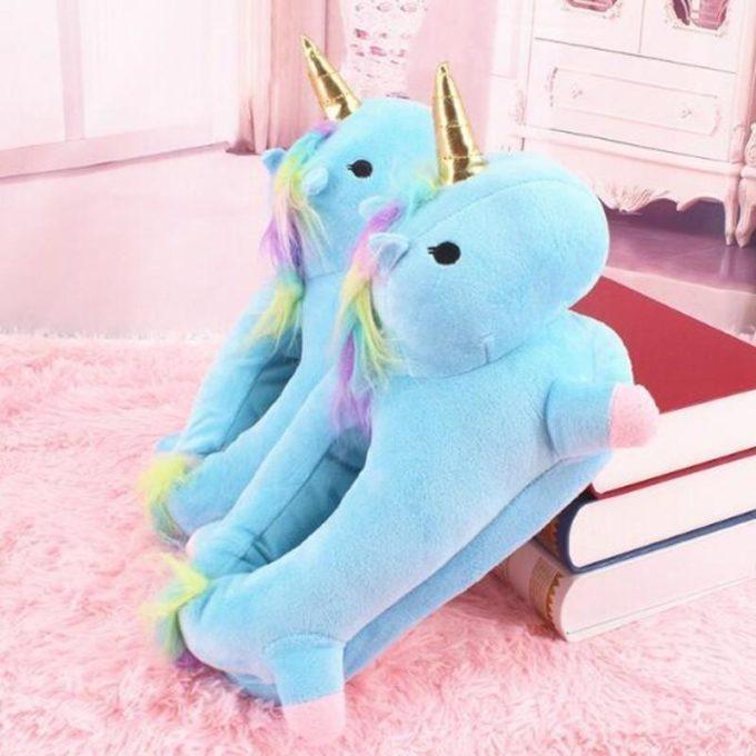 Pantoufles licorne Bleu / 37