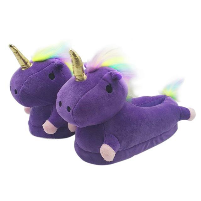 Pantoufles licorne Violet / 44