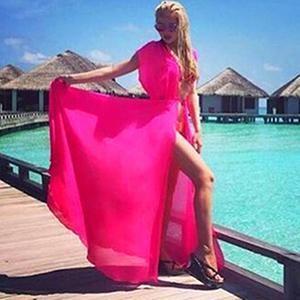 Robe de plage Rose - sans manches / Taille unique robe