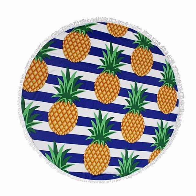 Serviette de plage imprimée ananas premium essuie