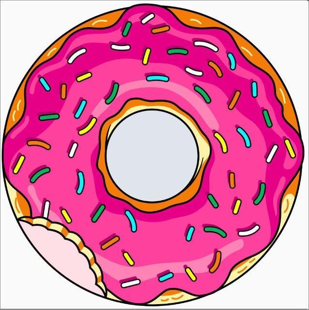 Serviette de plage imprimée donut rose essuie