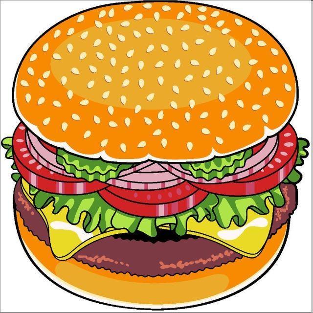 Serviette de plage imprimée hamburger essuie