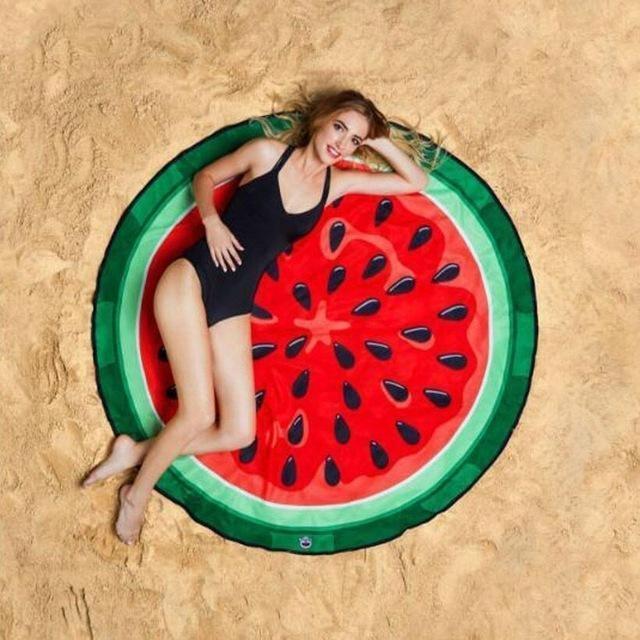 Serviette de plage imprimée melon essuie
