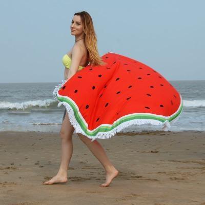 Serviette de plage imprimée melon premium essuie