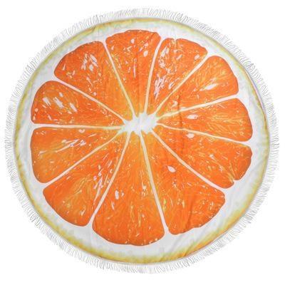 Serviette de plage imprimée orange premium essuie