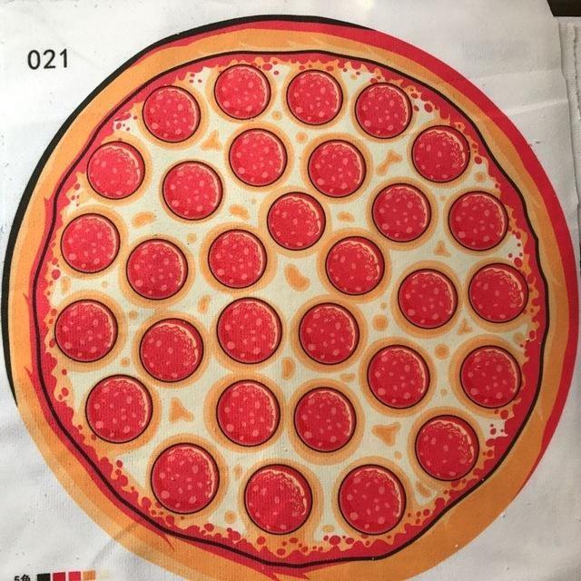 Serviette de plage imprimée pizza essuie