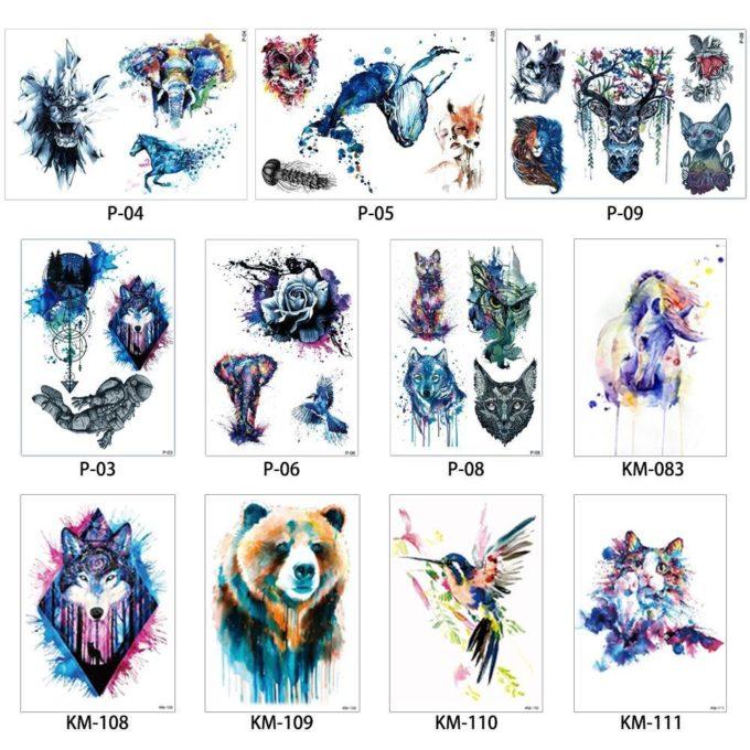 Tatouage Temporaire Aquarelle tatouage