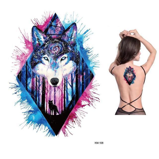 Tatouage Temporaire Aquarelle KM108 tatouage