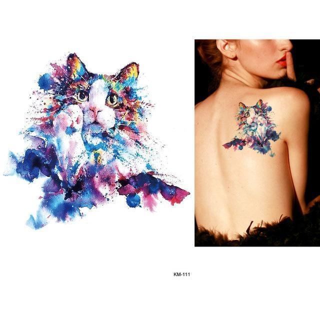 Tatouage Temporaire Aquarelle KM111 tatouage