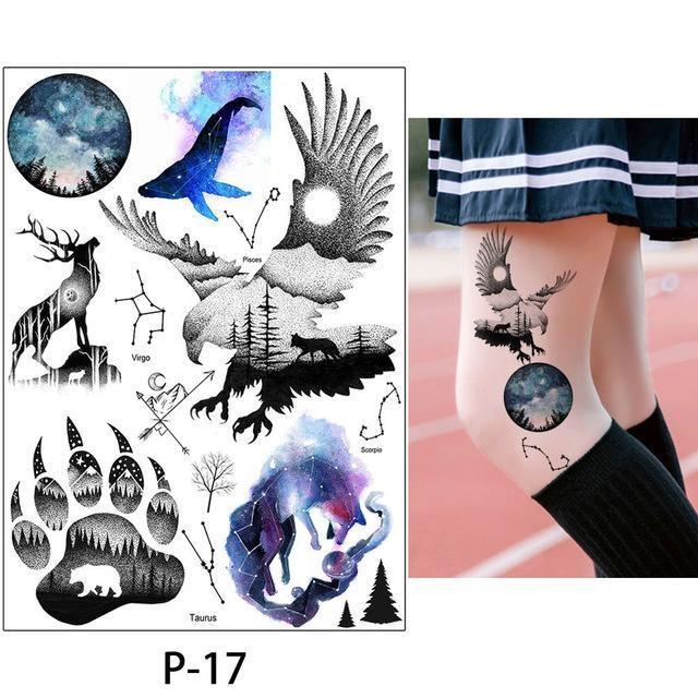 Tatouage Temporaire Aquarelle P-17 tatouage