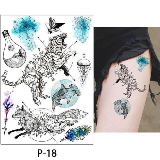 Tatouage Temporaire Aquarelle P-18 tatouage