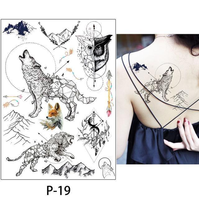 Tatouage Temporaire Aquarelle P-19 tatouage