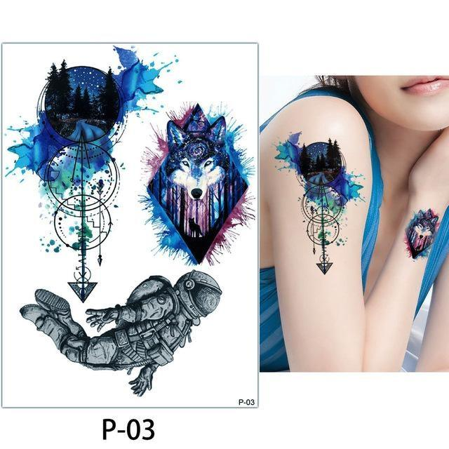Tatouage Temporaire Aquarelle P03 tatouage
