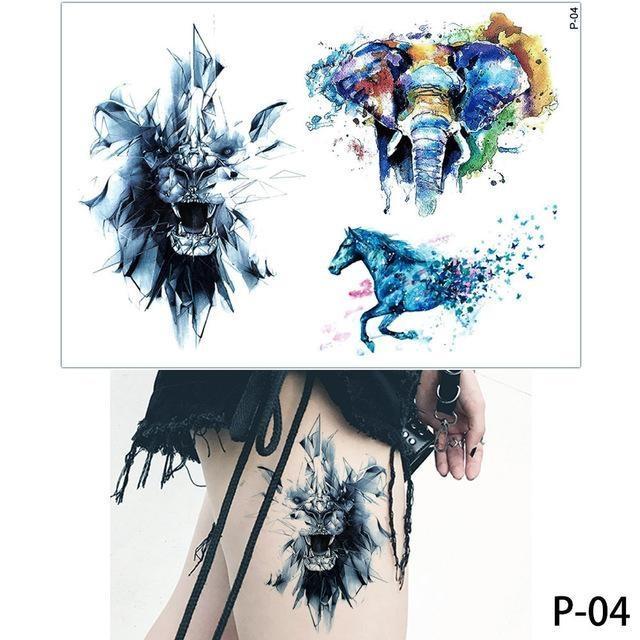 Tatouage Temporaire Aquarelle P04 tatouage