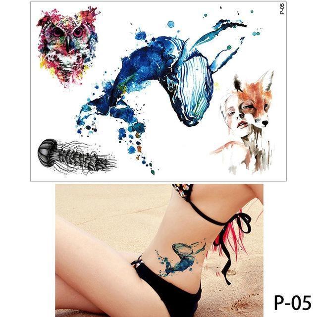 Tatouage Temporaire Aquarelle P05 tatouage