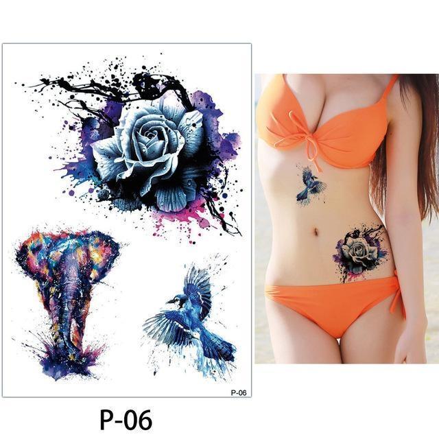 Tatouage Temporaire Aquarelle P06 tatouage
