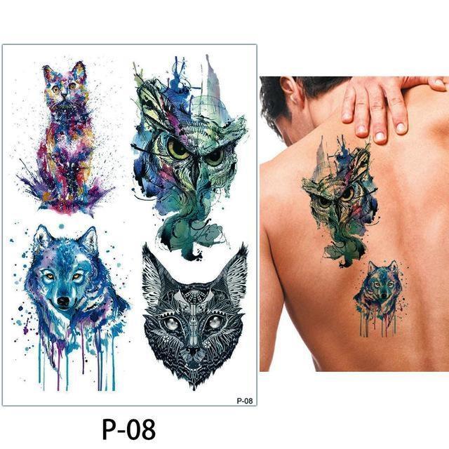 Tatouage Temporaire Aquarelle P08 tatouage