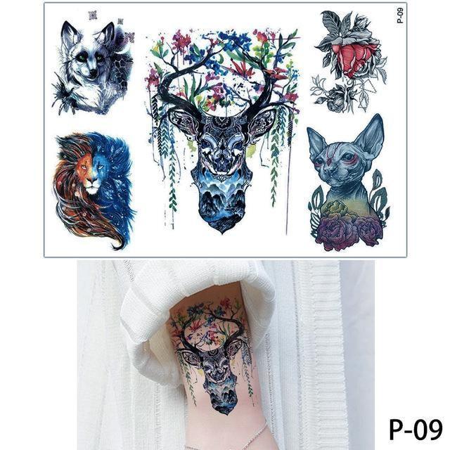 Tatouage Temporaire Aquarelle P09 tatouage