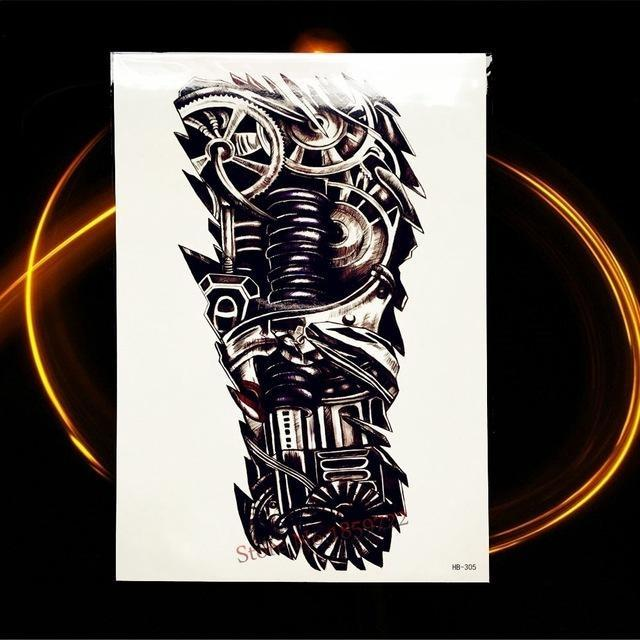 Tatouage Temporaire Black & Grey HHB305 tatouage
