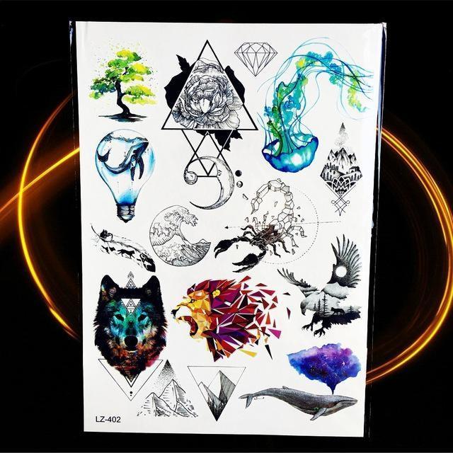 Tatouages Temporaires Géométriques HLZ402 tatouage