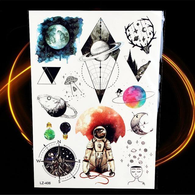 Tatouages Temporaires Géométriques HLZ406 tatouage