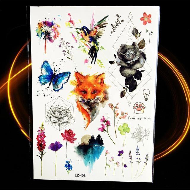 Tatouages Temporaires Géométriques HLZ408 tatouage