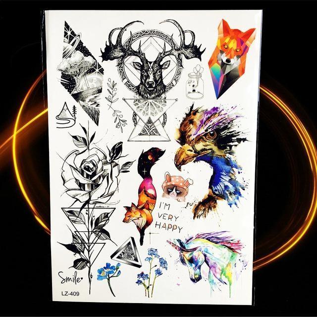 Tatouages Temporaires Géométriques HLZ409 tatouage