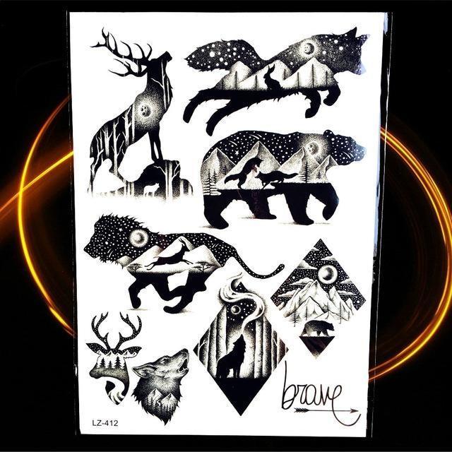 Tatouages Temporaires Géométriques HLZ412 tatouage