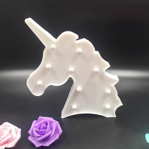 Veilleuse licorne blanc lampe