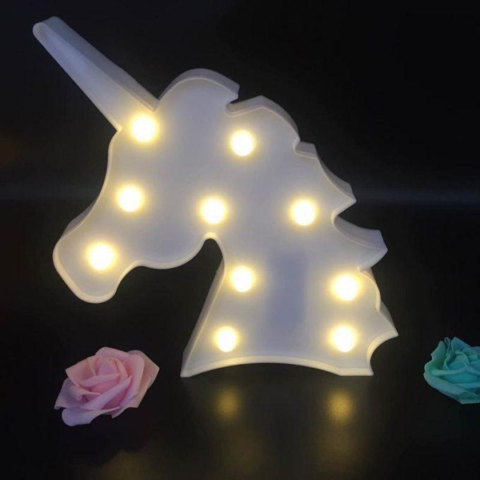 Veilleuse licorne lampe